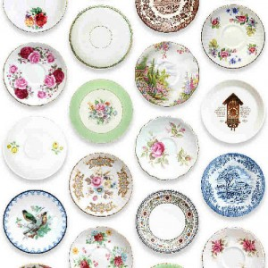 Traditional china porcelain plate