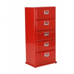 Red storage chest furniture