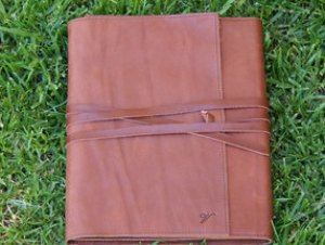 Handmade leather iPad cover