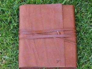 Handmade leather iPad cover