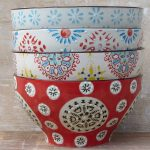 Bohemian ceramic bowls from Horsfall and Wright