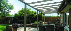 Glass veranda for a cosy home