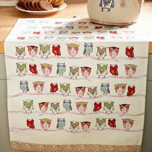 Twitter owl cotton tea towel
