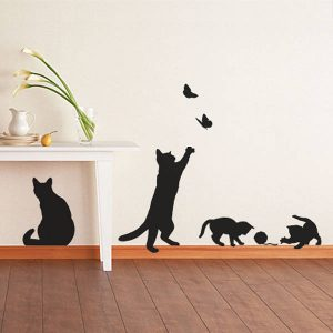 Contemporary cat and kitten wall decoration wall art