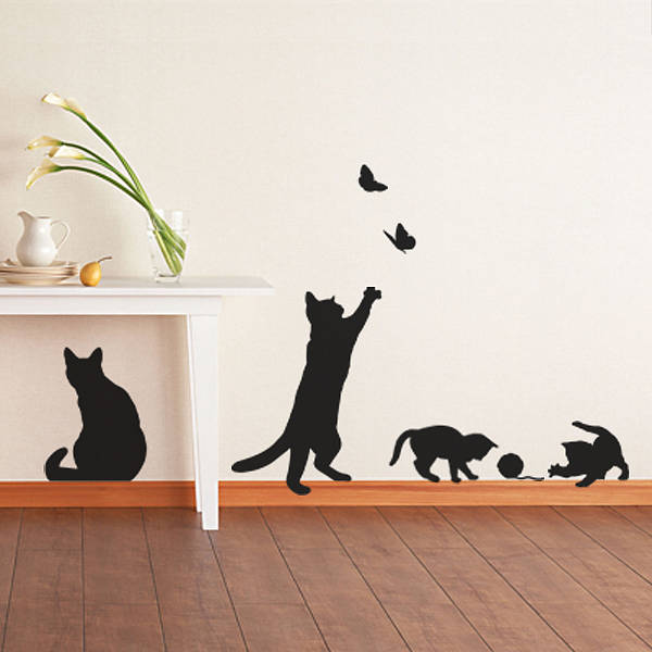 Superb ... Decal Cat Wall Sticker | Cosy Home Blog ...