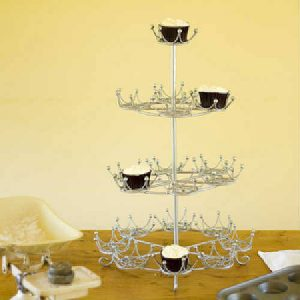 Royal Crown cupcake display stand
