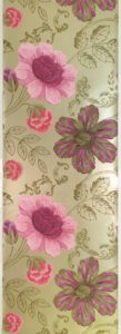 Pink and purple designer floral wallpaper