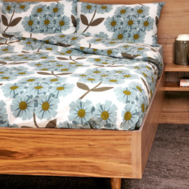 Designer Orla Kiely bed linen