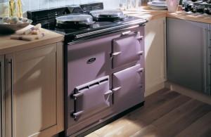 Purple Aga cosy kitchen home