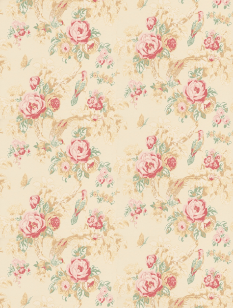 Decorate your home with this gorgeous vintage rose wallpaper from Anna French