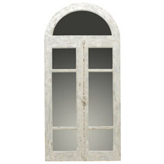 Parisienne arched window mirror