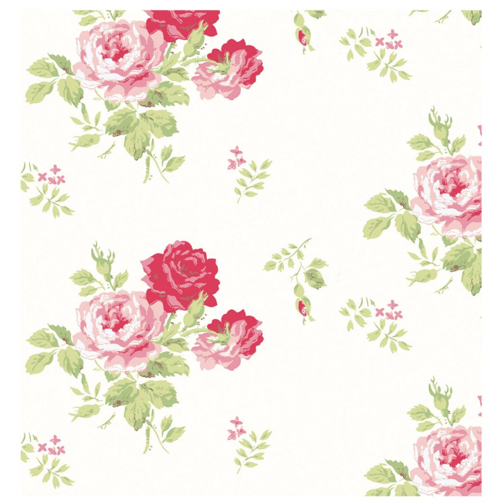 A lovely example of a perfect vintage rose wallpaper - this one is from Cath Kidston