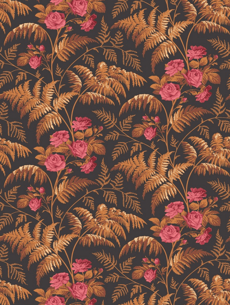 Transform your home decor with this botanica vintage rose wallpaper from Cole & Son