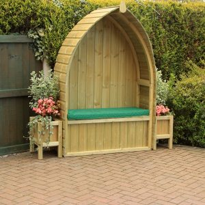 Cosy home cottage garden arbour seat