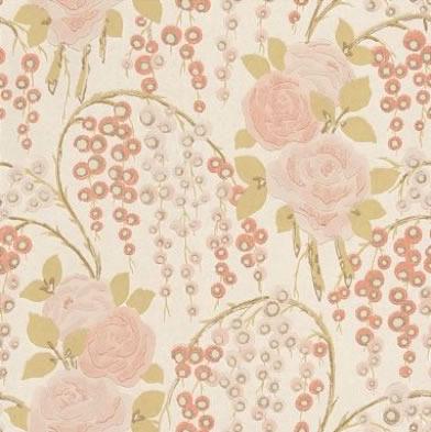 Classic Vintage Rose Wallpaper