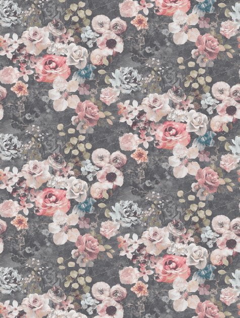 Lovely example of a vintage rose wallpaper for home decorating
