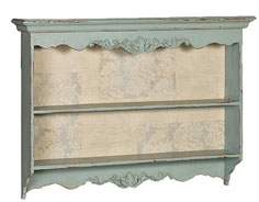 Pale blue carved wall rack