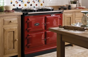 Cosy home kitchen Aga cookers