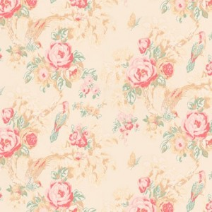 Designer vintage rose wallpaper