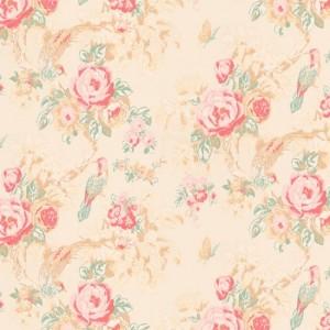 Designer vintage rose wallpaper
