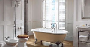 Traditional double ended luxury bath tub