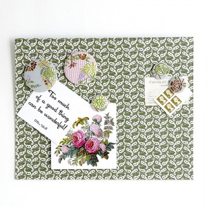 Fabric magnetic memo board