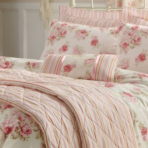 Ideas for a pink floral bedroom