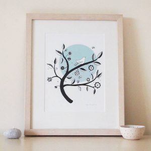 Blue Moon art print by Mary Kilvert
