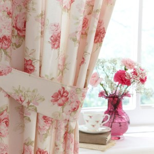 Vintage rose home decor curtains