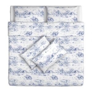Emmie Land blue and white bedding set from Ikea