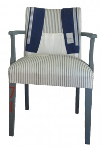 Designer sailor chair perfect for a coastal home