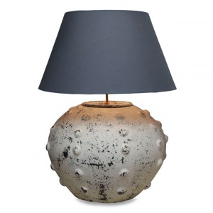 Nautical coastal blue table lamp