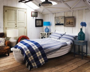 Coastal nautical interior design room idea
