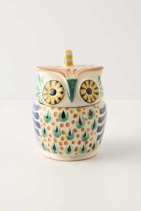 Novelty owl sugar bowl
