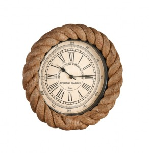 Nautical coastal rope wall clock