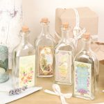 French style vintage bathroom glass bottles
