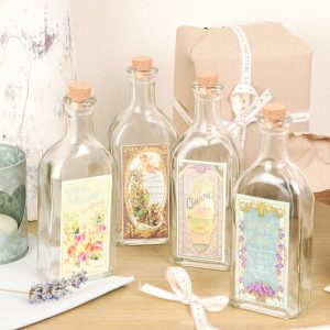 French style vintage bathroom glass bottles