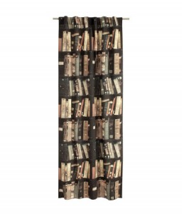 Home furnishings for book lovers: Book shelf curtain
