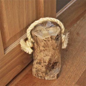Rustic shabby chic wood doorstop