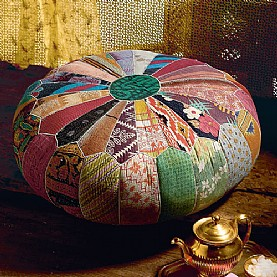 Vintage Indian fabric pouffe from Culture Vulture