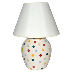 Cosy home lighting: Pottery lamps from Emma Bridgewater