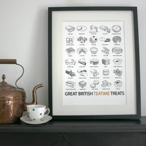 Great British food prints from Edith and Bob