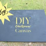 Make your own chalkboard canvas for your home