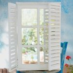 Icaria shutter rustic style mirror