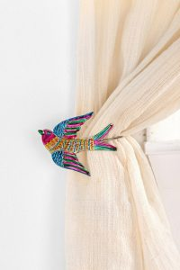 Decorative bird curtain tie backs from Urban Outfitters