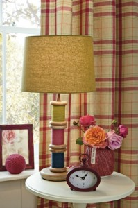 Bobbins cotton reel table lamp from Next