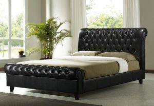 Luxury cosy home sleigh bed