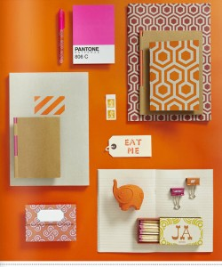 Vintage orange stationery