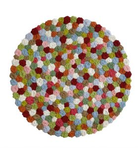Boho shabby chic handmade crochet rug