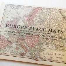 Set of vintage Europe place mats